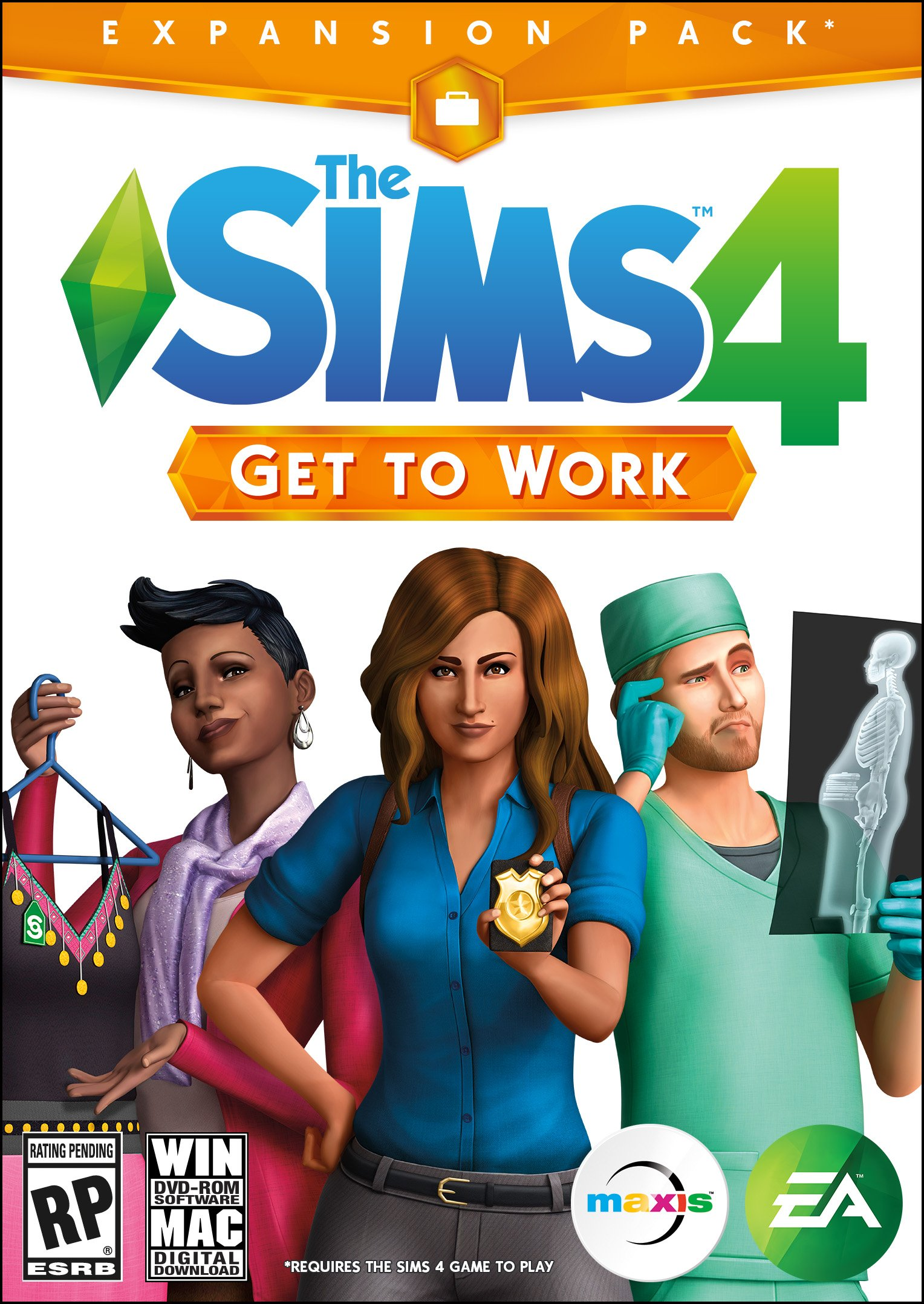 Box art - The Sims 4: Get to Work
