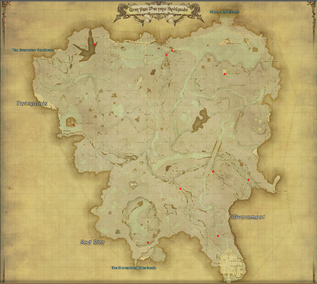 FINAL FANTASY XIV: Heavensward Aether Current Locations ...