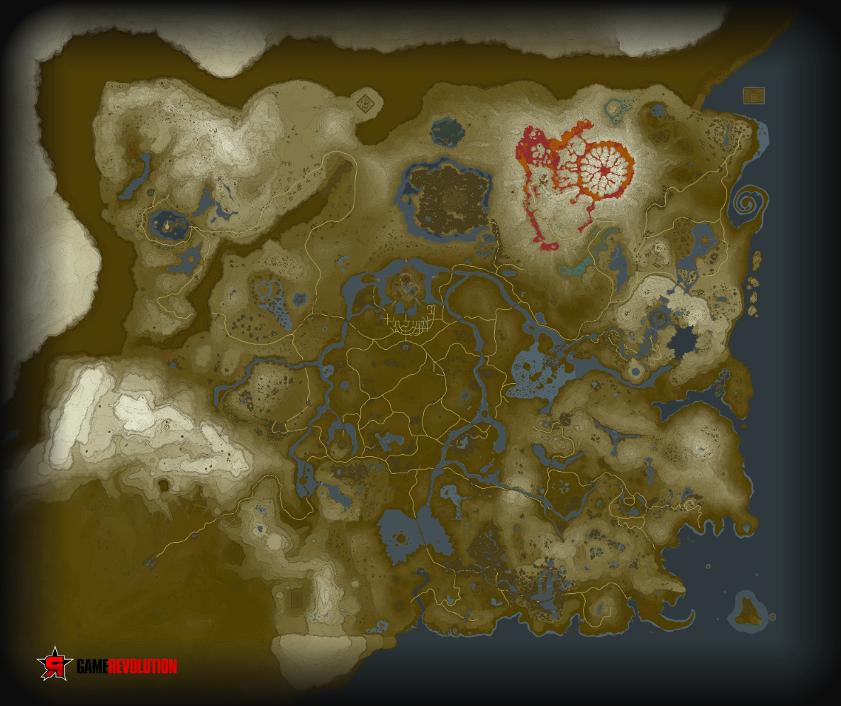Zelda breath of the wild full world map high resolution image below you will find the full world map click the image to view it in full resolution gumiabroncs Image collections