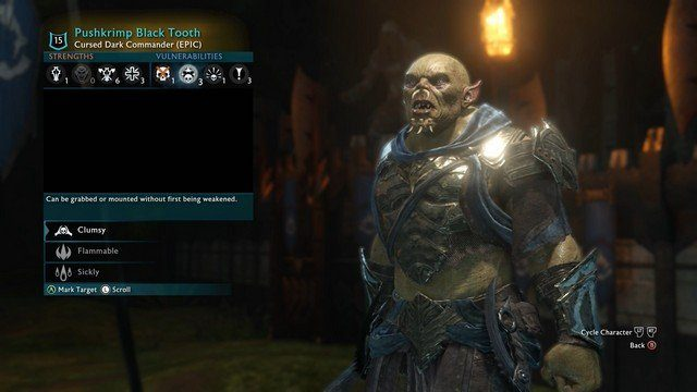 Shadow of War Orc Details