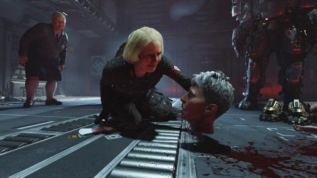 Wolfenstein 2 Engel Holding Severed Head