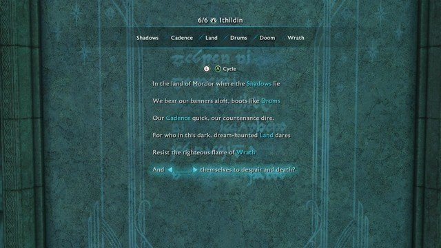 Shadow of War Minas Tirith Minas Morgul Ithildin Door Poem & Shadow of War Poems: Open the Ithildin Doors with our Poem Solutions ...