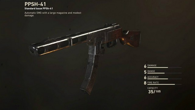 Call of Duty WW2 PPSh-41 SMG