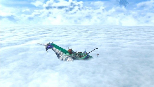 Xenoblade Chronicles 2 Gramps and Cloud Sea