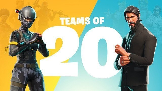 fortnite update 3.2 teams of 20 burnout skin