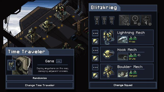 Into the Breach Mech Selection