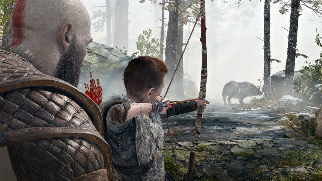 God of War 2018 Review Kratos and Atreus Hunting