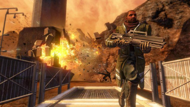 Red Faction Guerilla ReMARStered Building Explosion Bridge