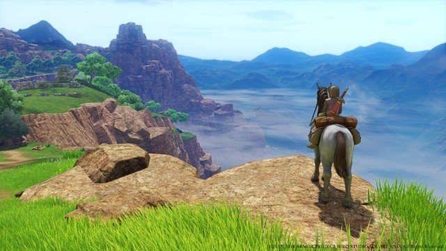 Dragon Quest 11 Review Horse on Cliff