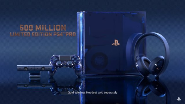 ps4 limited edition blue gold
