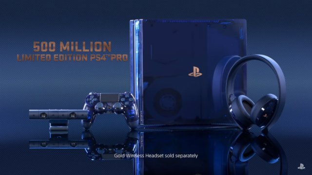 Limited Edition Ps4 Pro Announced Celebrating 500 Million
