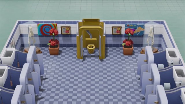 Two Point Hospital Golden Toilet