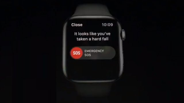 apple watch emergency services fall detector