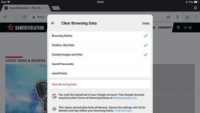 google chrome virus warning pop up on iphone