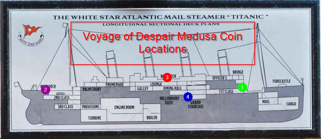 Black Ops 4 Zombies Voyage of Despair Medusa Coin Locations Map