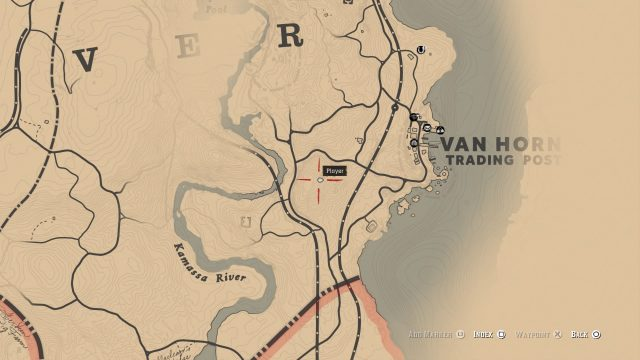 Red Dead Redemption 2 Poisonous Trail Map - Location 3
