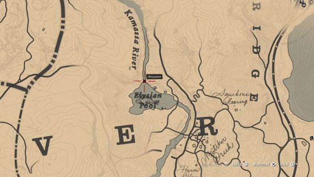 Red Dead Redemption 2 Poisonous Trail Map - Location 4