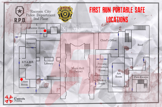 Resident Evil 2 Portable Safe locations First Run