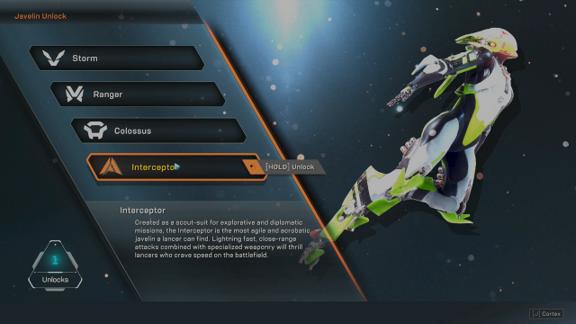 Anthem Best Javelin Choose Interceptor