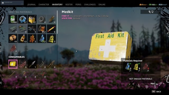 how to heal in far cry new dawn crafting medkits