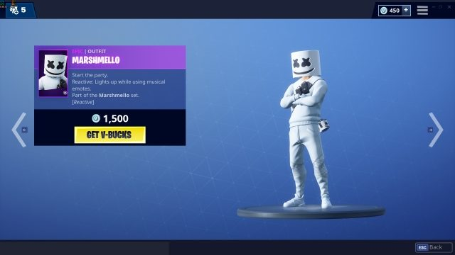 Fortnite Marshmello Set