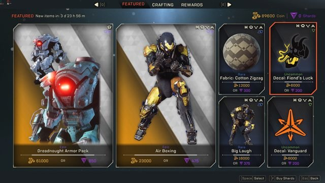 Anthem Featured Store Reset