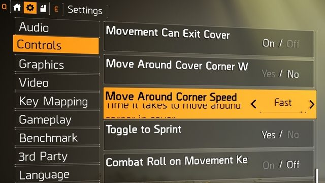 The Division 2 Cover Movement Speed Increase