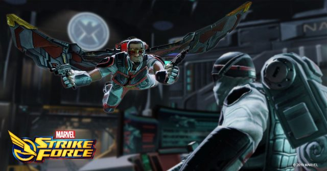 falcon fighting marvel strike force