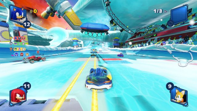 Team Sonic Racing vs Sonic All-Stars Racing race