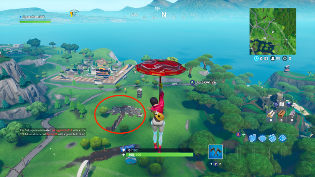 Fortnite Fortbyte 7 location