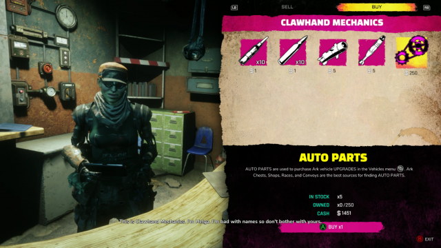 Rage 2 Vehicle Weapons Auto Parts