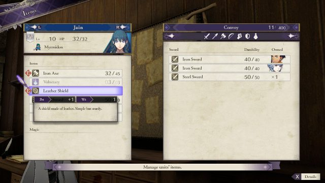 Fire Emblem Three Houses Weight stat