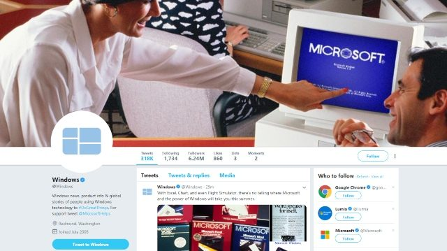 The Windows Twitter page is teasing something Windows 1.0-related.