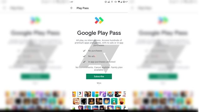 Google Play Pass Games List