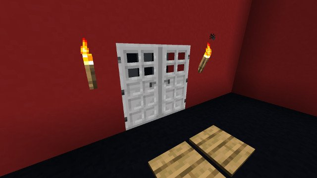 Minecraft Iron Double Doors 114 How To Build With