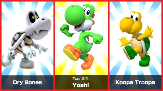 Mario Kart Tour characters All drivers red border