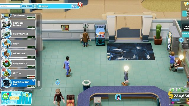 Two Point Hospital Close Encounters Sam Rug