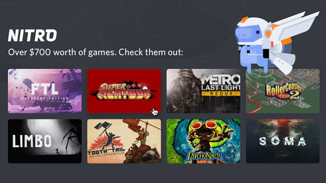 Discord to remove free games from its Nitro subscription service