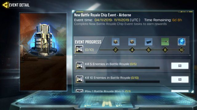 Call of Duty Mobile Airborne Class how to unlock Airborne chip class