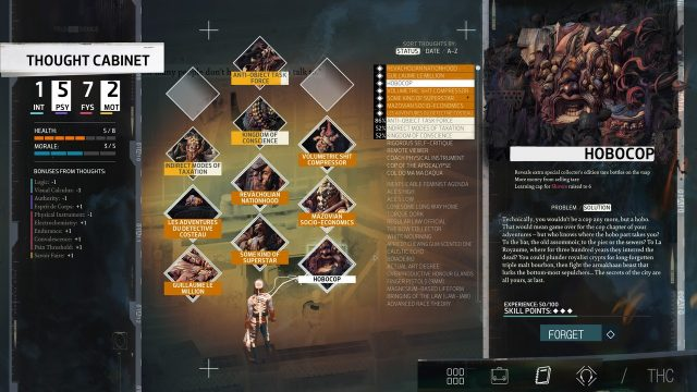 Disco Elysium Review Thought Cabinet