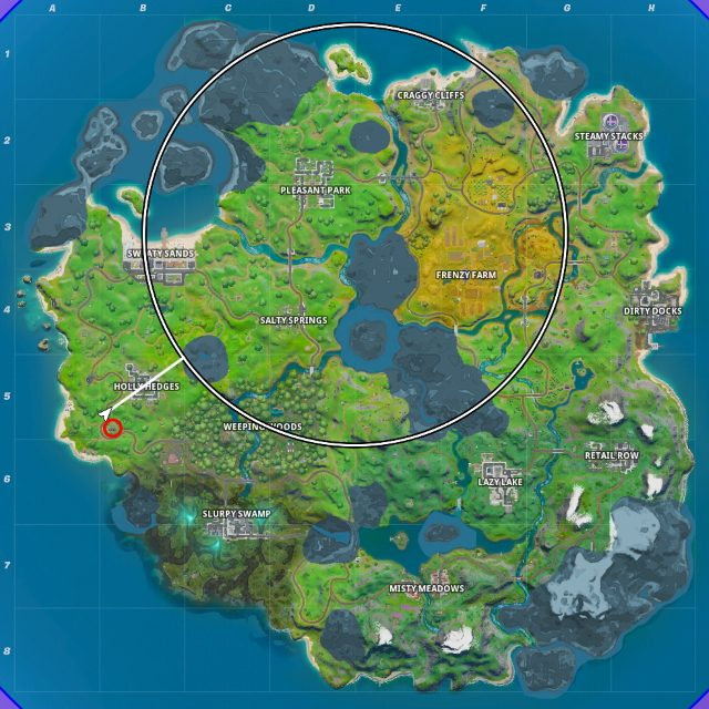 Fortnite Hidden N location