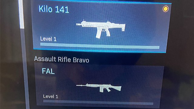 Modern Warfare level 1 weapon bug