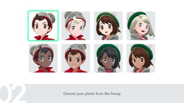 Pokemon Sword and Shield character portraits