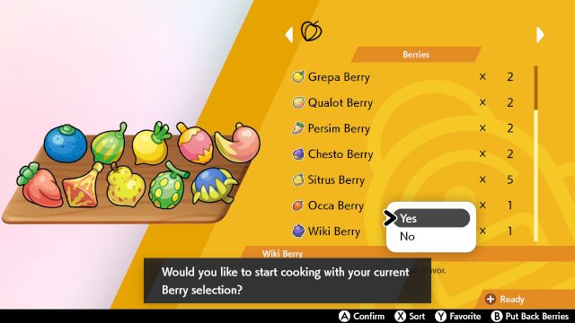 Pokemon Sword and Shield curry Use rare berries