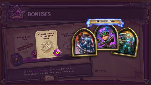 What is the Hearthstone Battlegrounds bonus content system_