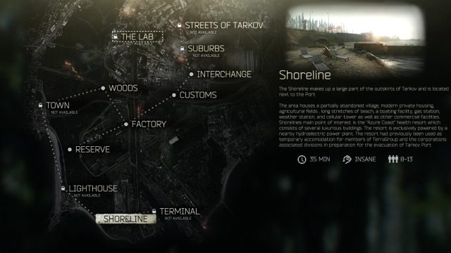 Escape from Tarkov Shoreline