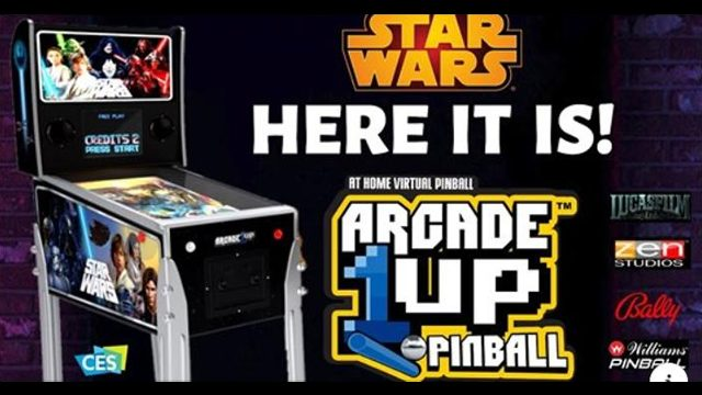 arcade1up pinball machine virtual star wars leaked image
