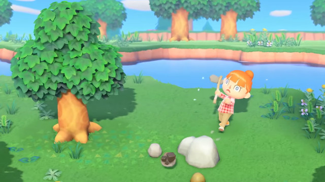 Animal Crossing: New Horizons save transfer axe bounce