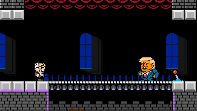 Bernie Sanders video game President Trump Bowser