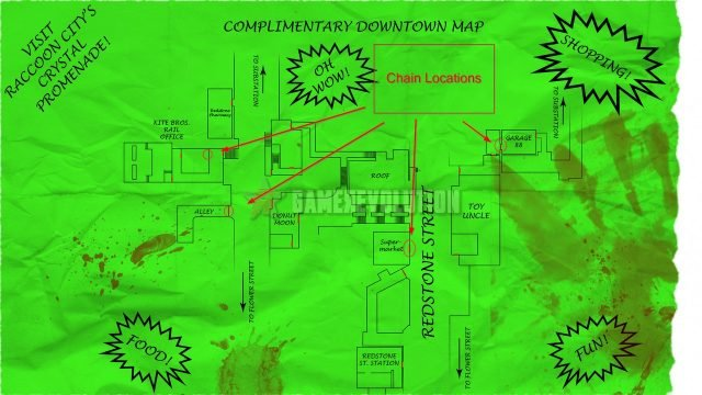 Resident Evil 3 Remake Bolt Cutters Chain Locations Map